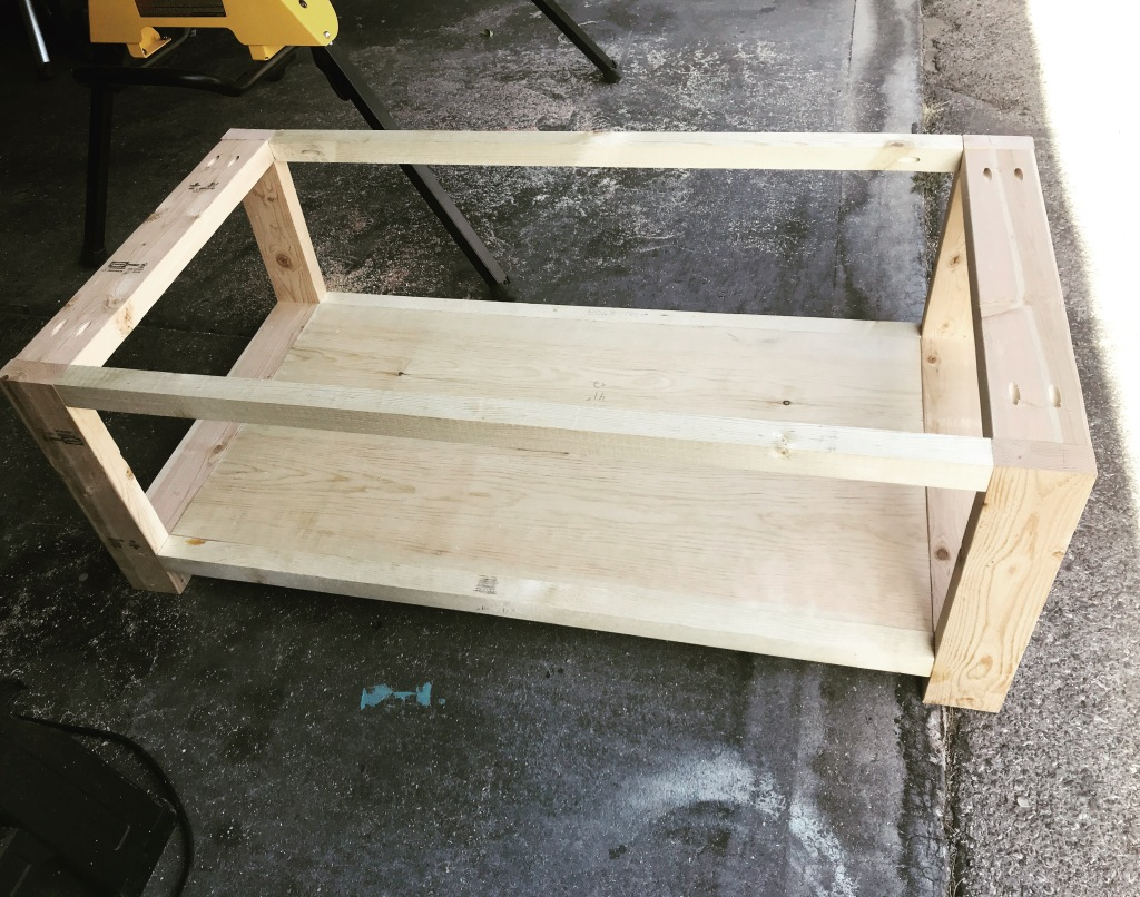 unfinished coffee table structure