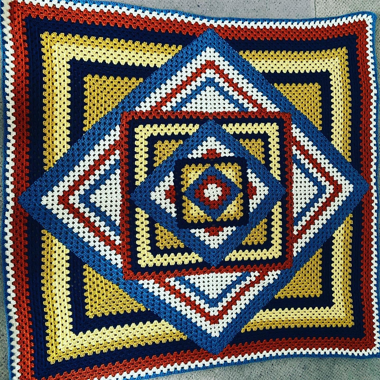 afghan in soutwestern colors