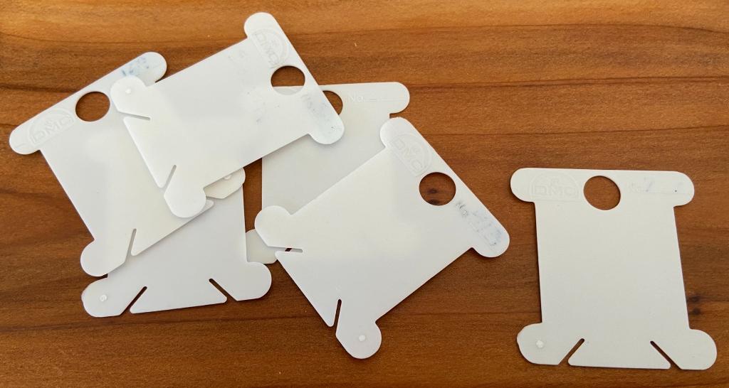 plastic thread cards