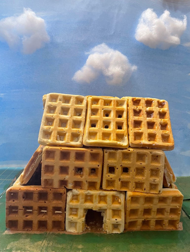 a house made of waffles
